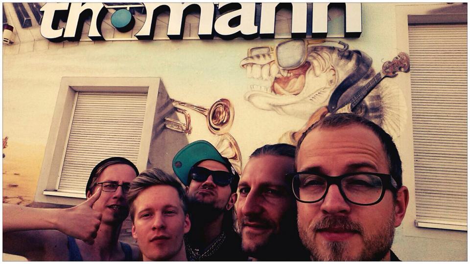 Placenta on Tour (v.l. Micha, Daniel, Axel, Tobi und Sven)