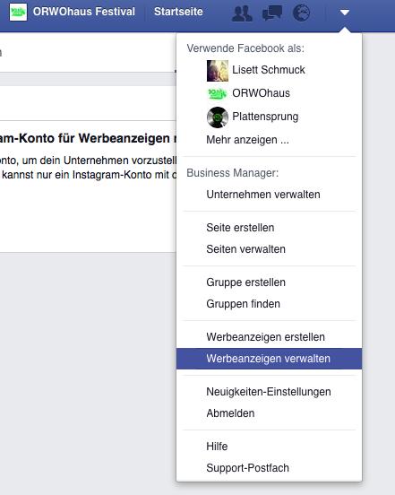 Der Facebook Werbemanager