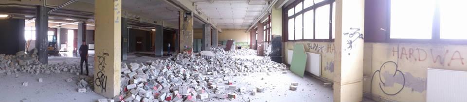 Umbau der Halle – Baubericht